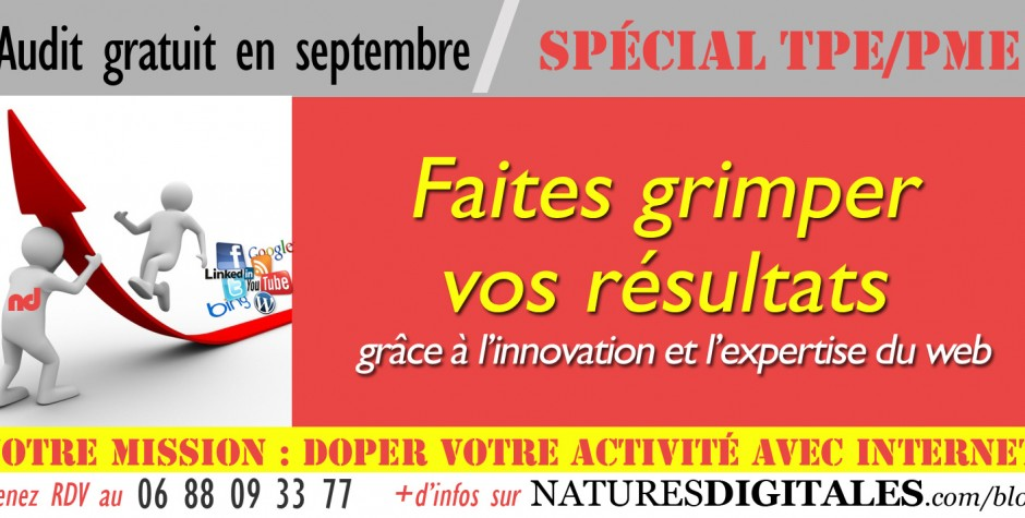 Natures Digitales vous propose un premier audit gratuit!