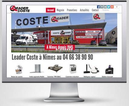Réalisation du site Leader Coste
