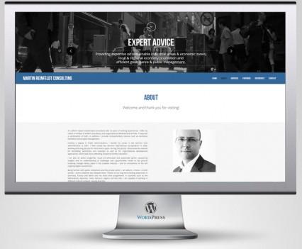 Reinfeldt Consulting, réalisation site internet