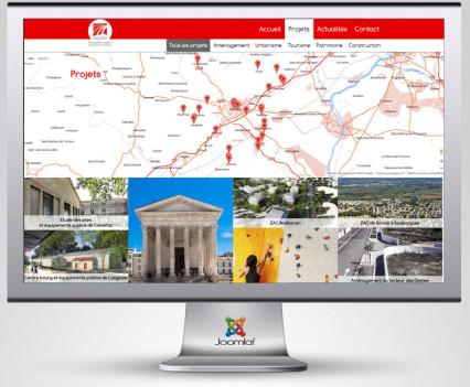 Site internet cartographique pour la SPL Agate