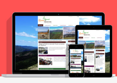 Site internet de la communauté de communes Causses Aigoual Cévennes