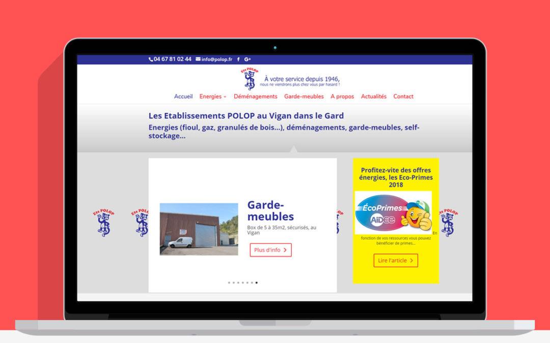 Site internet des établissements Polop